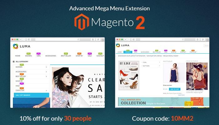 Magento Mega menu 2