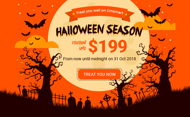 Cmsmart treats you well on scary Halloween night