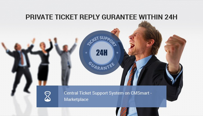 PRIVATE TICKET REPLY GUARANTEE WITHIN 24H