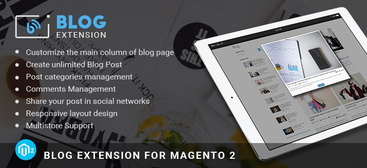 Magento 2 blog extension