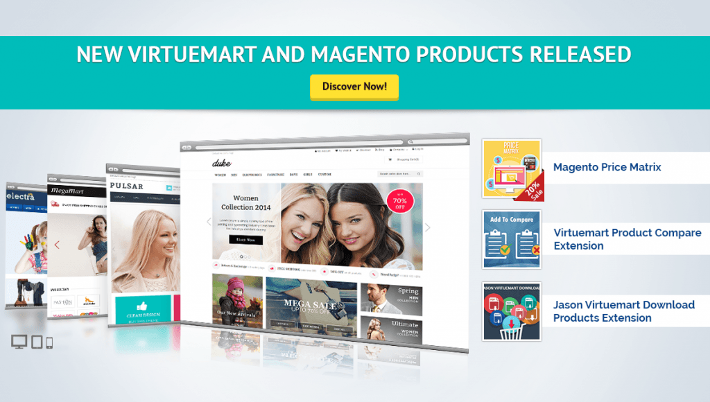 Latest Virtuemart and Magento products Released on Cmsmart
