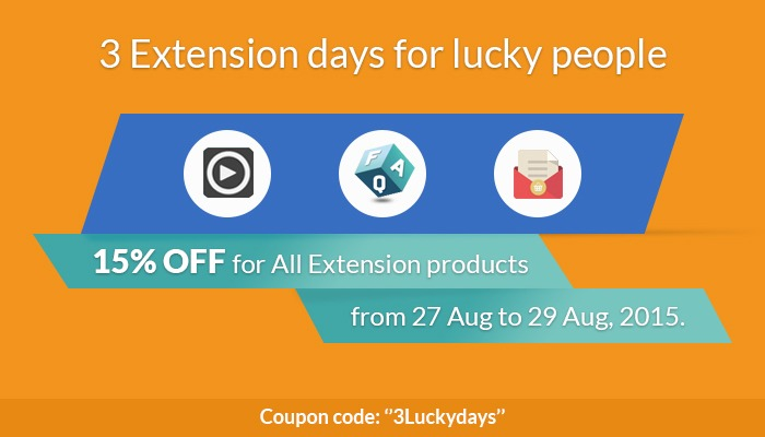 3 Extension days for lucky people