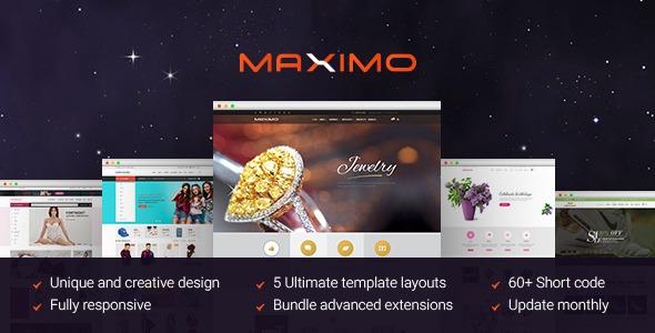 Maximo Magento creative multipurpose template
