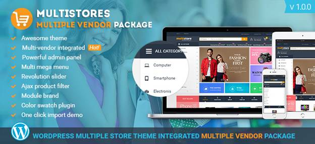 Integration of Multi Store and Multi Vendor on WP Theme 2