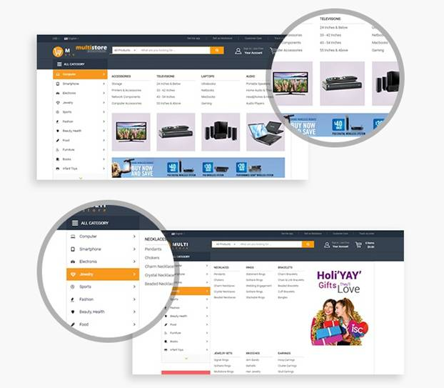 Integration of Multi Store and Multi Vendor on WP Theme 5