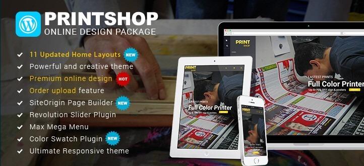 WordPress Printshop theme