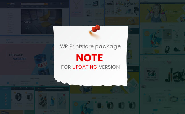 Note for Updating version on WP Printstore package