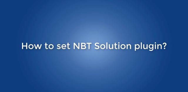 How to set NBT Solution plugin for Prinshop Solution?