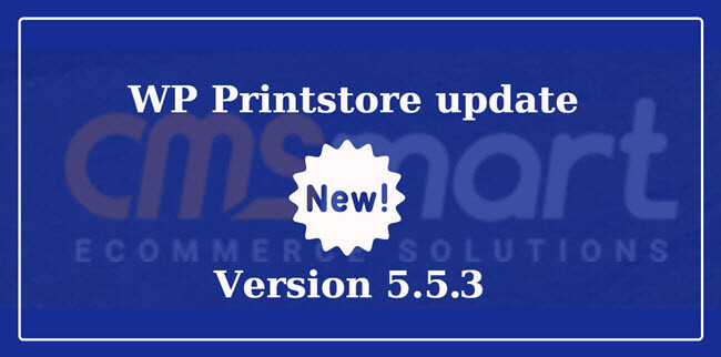What can you do in the Wordpress Printstore version 5.5.3?