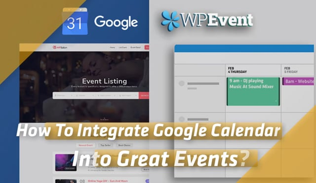 How To Integrate Google Calendar Into Great Events?