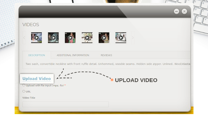 Upload Video from front-end