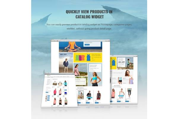 QUICKLY VIEW PRODUCTS IN MAGENTO CATALOG WIDGET