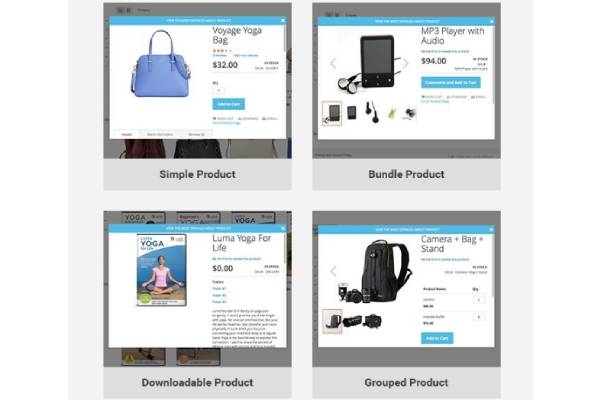 SUPPORTS ALL PRODUCT TYPES ON MAGENTO WEBSITE