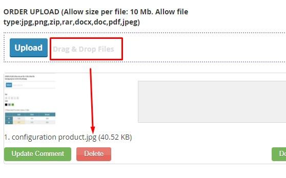 Drag & Drop Files into File Uploading Area