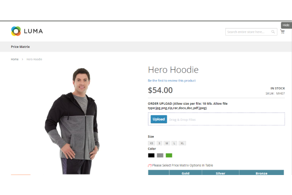 Upload files directly on the product details page