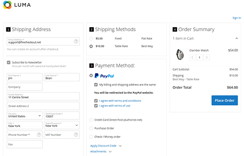 Order attachment during checkout