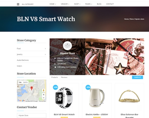 VENDOR PRODUCT PAGE