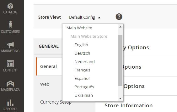 Magento Multi Languages Feature
