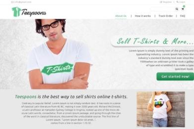 T Shirt Website Development