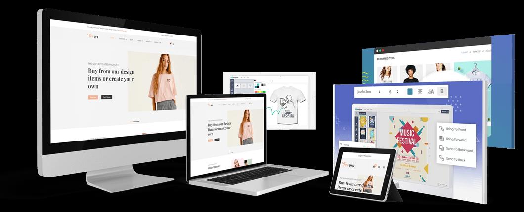 TSHIRT | T-shirt Printing Store Ecommerce Website with Online Designer Workflow