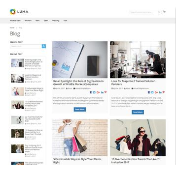 GRID BLOG PAGE WITH 2 COLUMNS