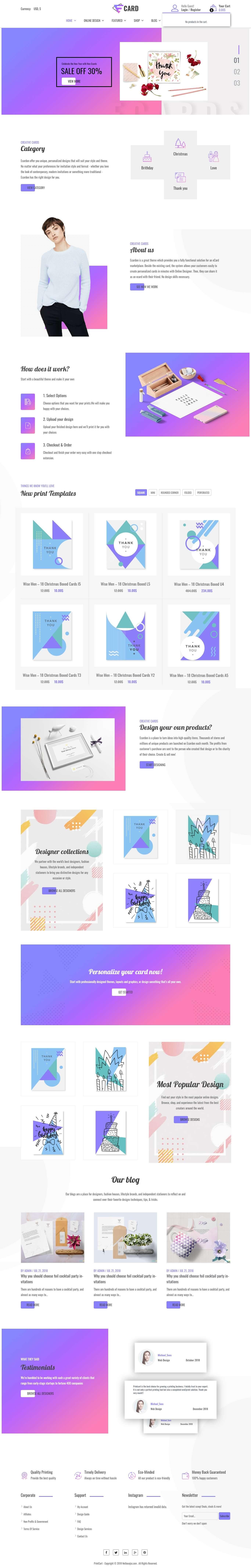 Creative E-Card Printing