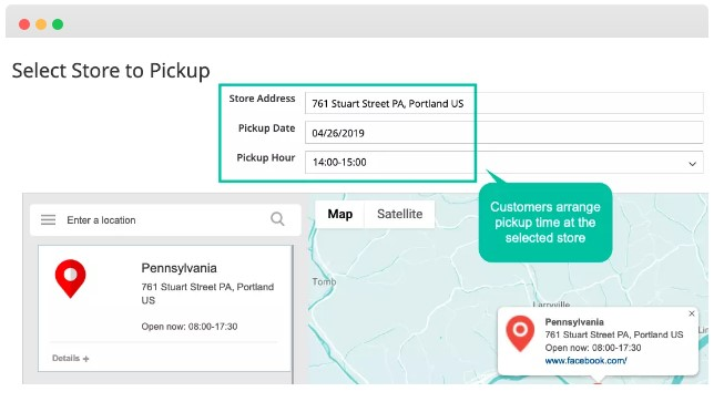 Extra convenience with Store Pickup function