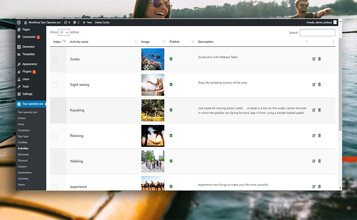 Different Activities Page