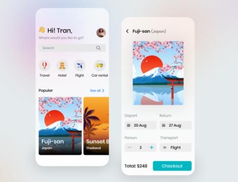 Travel Booking Mobile App Development