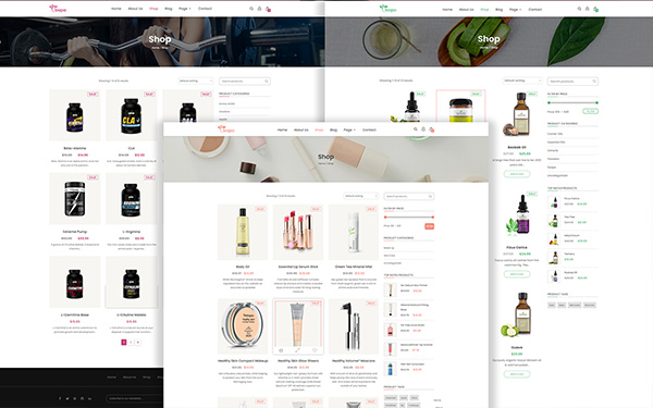 BEAUTIFUL BLOG DETAILS STYLE AND salons layouts