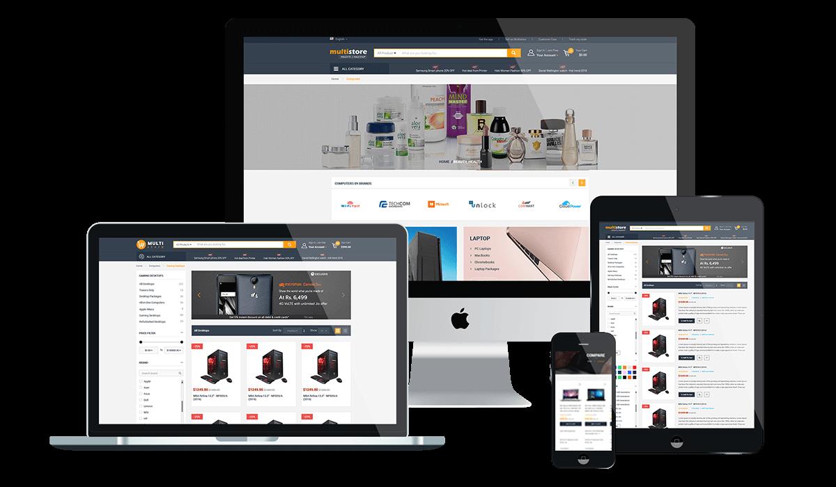 Marketplace WP Theme support Dokan Multi Vendors Workflow