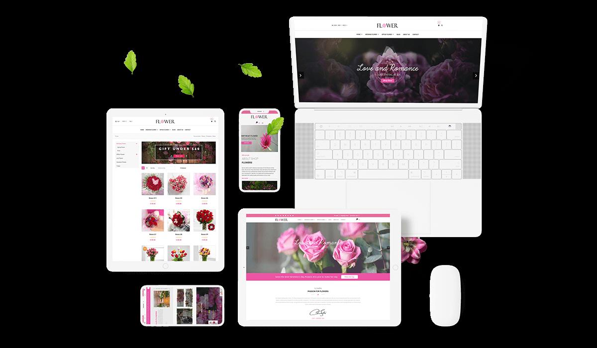 Creative Flower Woocommerce WordPress Theme Workflow