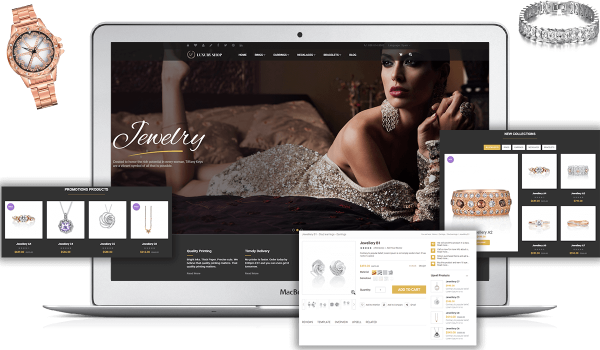 Elegance - Magento Responsive Jewelry Theme Workflow