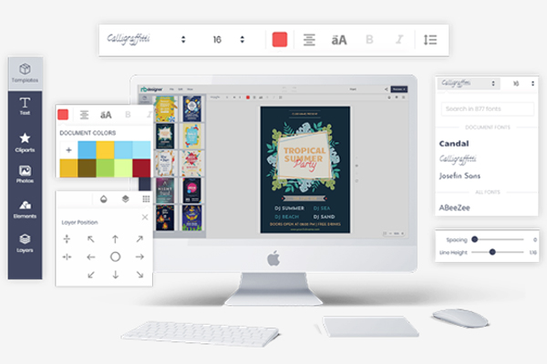 Easy drag and drop design tools online