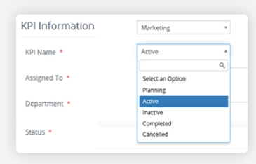 KPI Active / Planning