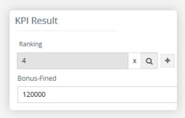 Ranking / Bonus KPI
