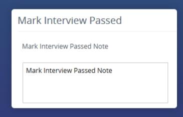 Mark Interview Pass