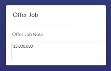Job offer to Applicant