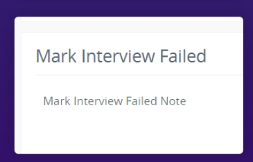 Mark Interview Failed