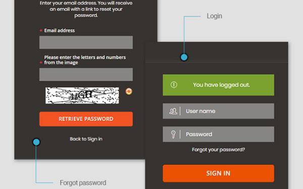 Login and Forgot Password