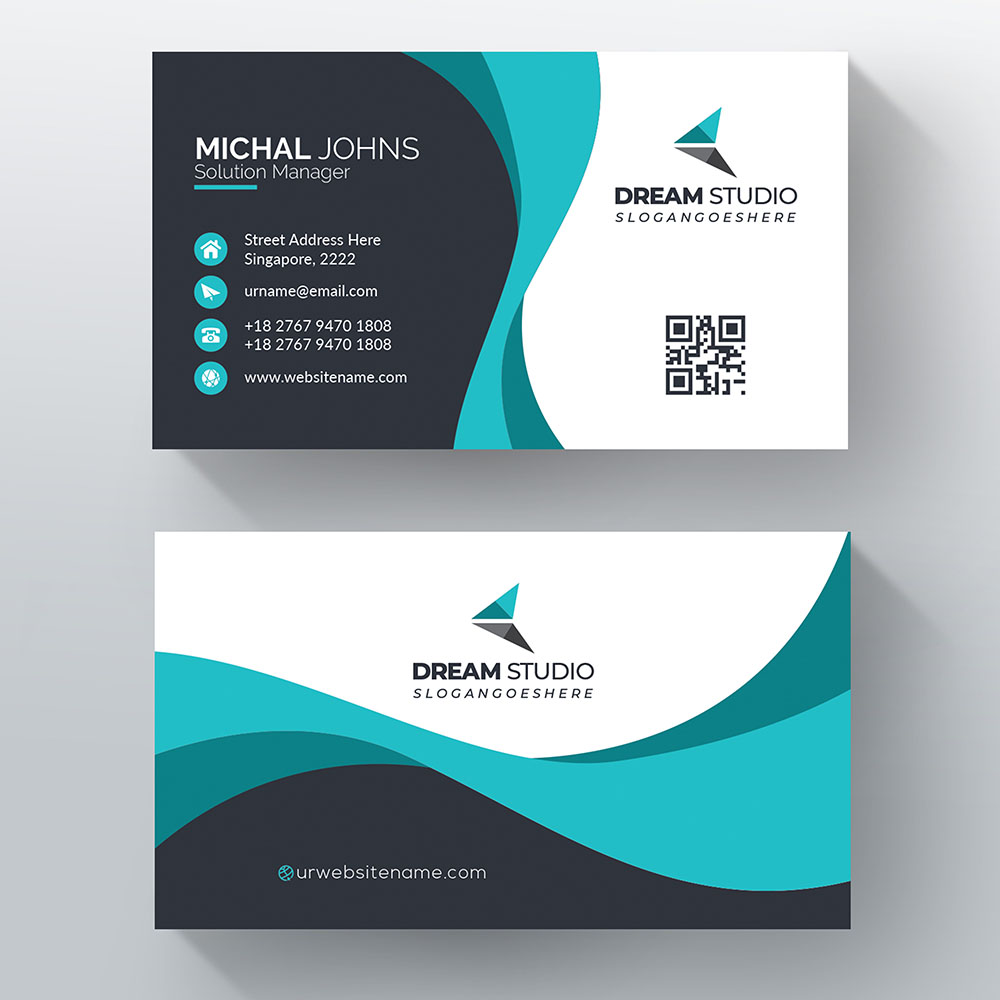 Business Card with Print Option