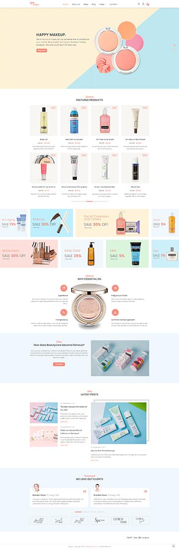 Cosmetic Shop Theme
