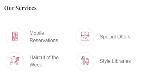 Salon Services Feature