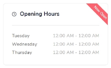 Salon Opening Hours