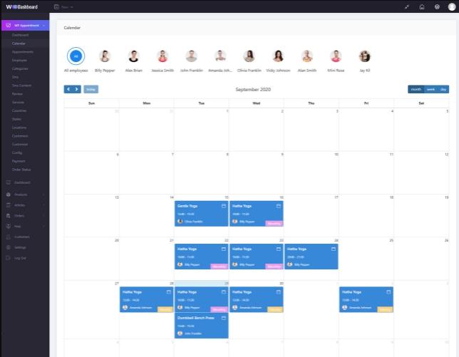 Managable Schedule calendar