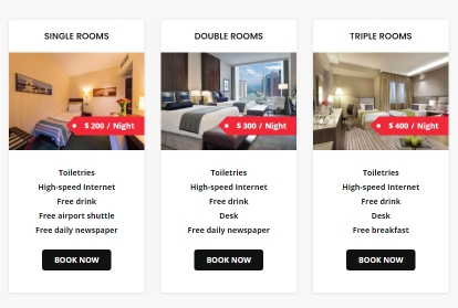 Offer different rooms selection