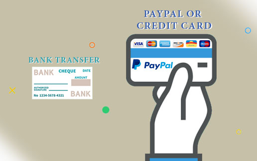Payment: Paypal and Banktransfer