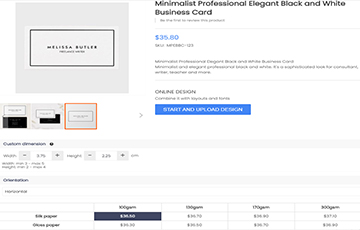 ONLINE DESIGN WITH PRICING OPTION