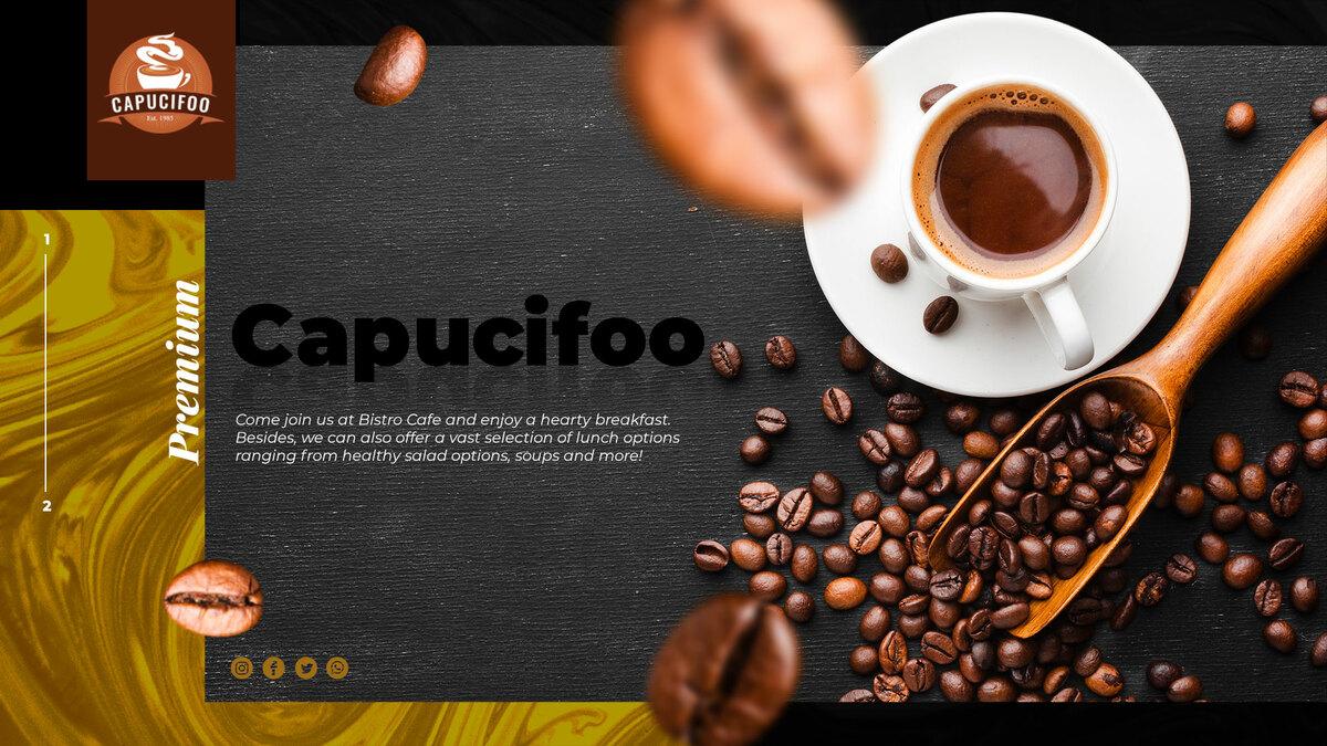 CAPUCIFOO - Coffee Shop & Drinks WordPress Themes Workflow