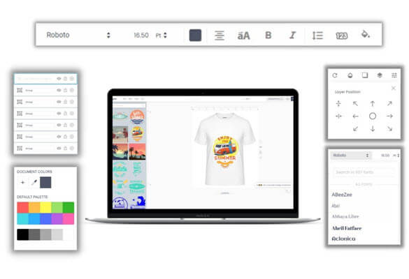 ONLINE DESIGNER TOOL WITH TSHIRT SHOPIFY SHOP